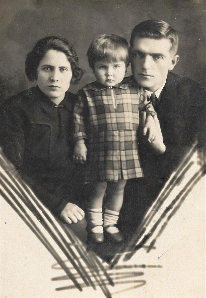 Евдокия, Семен, Тамара, 1935 г