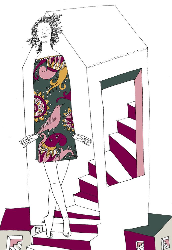 Рисунок Тани Кноссен-Полищук для обложки журнала ЭТАЖИ 4(20) декабрь 2020