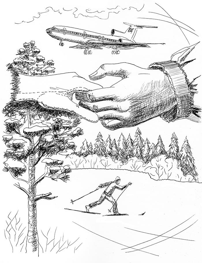 Иллюстрация Зинаиды Серебряковой