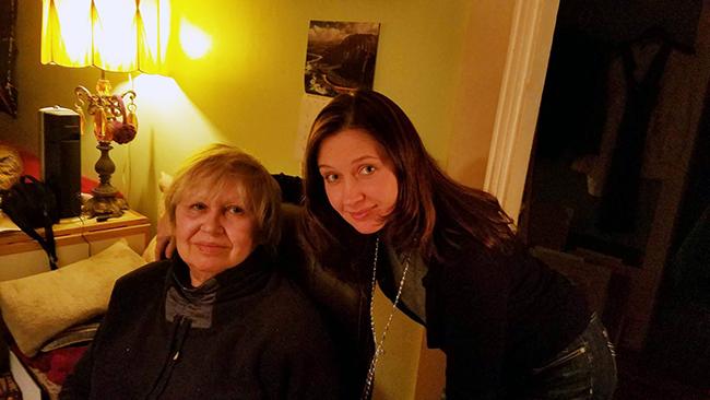 Таня Лоскутова и Ирина Терра. Фото И.Д.Кураса, 29 января 2017 года