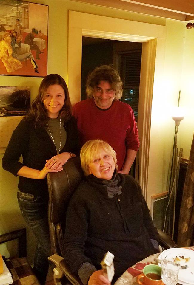 Таня Лоскутова с Ириной Террой и Игорем Курасом. Фото Феликса Ускова, 29 января 2017 года