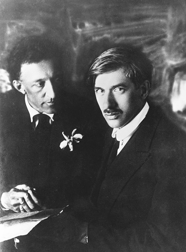 Александр Блок с Корнеем Чуковским, фотография Моисея Наппельбаума, 25 апреля 1921 года