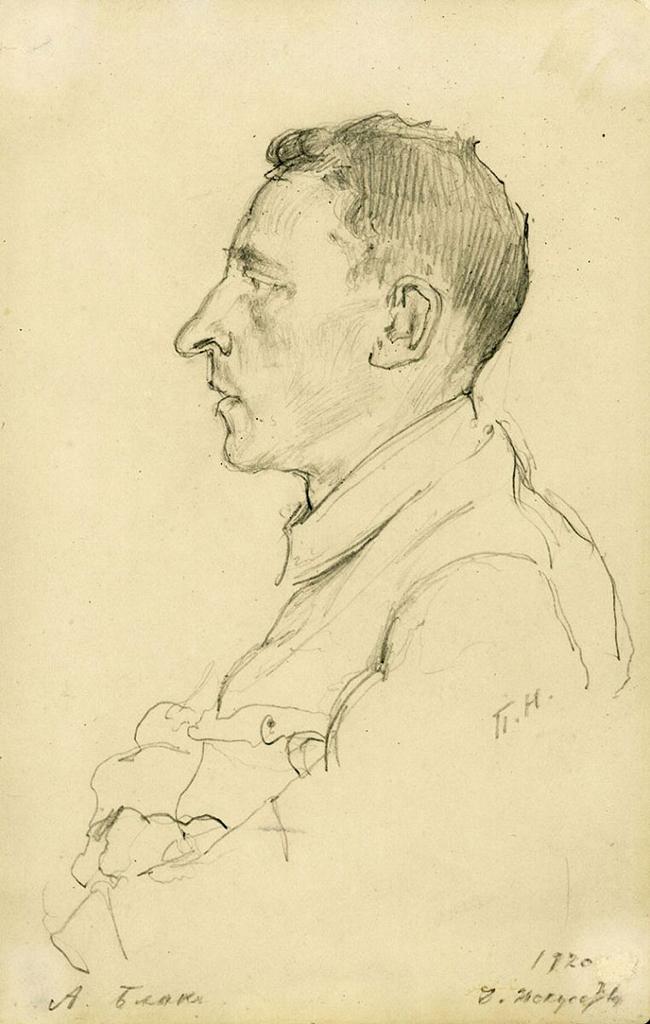 Портрет Блока. П. Нерадовский, 1920
